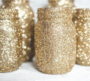 crafts glitter jars
