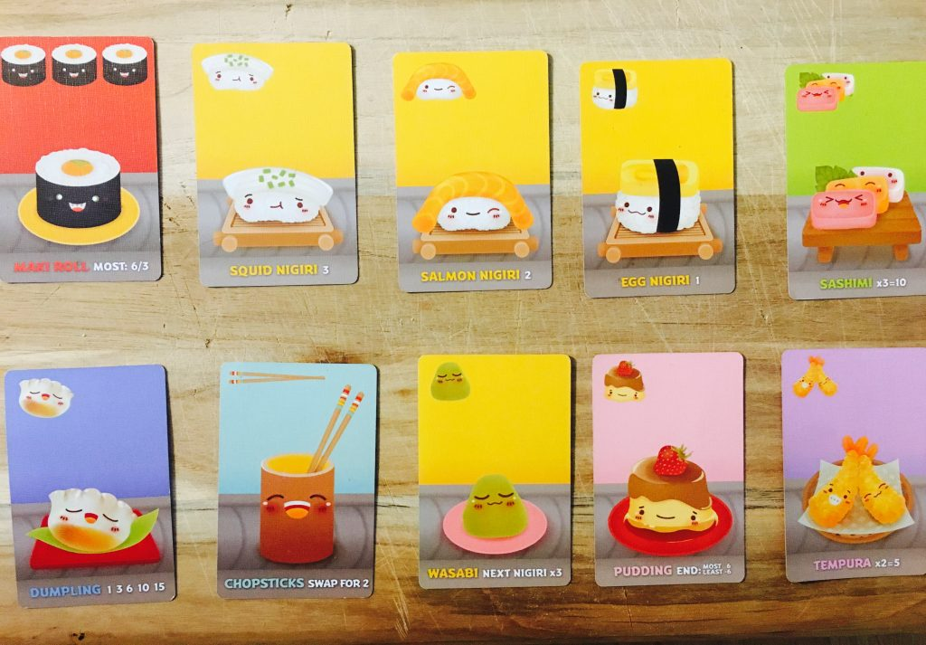 Sushi Go Character Array
